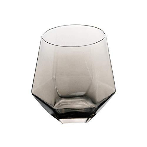 YUEZPKF Personalidad Gafas de Whisky Vidrio Transparente Whisky Cerveza Cerveza Cerveza Base Grueso Base HOGAR Agua CUPA DE Verdad para CAFÉ Tea DE Leche (Color : Light Grey, Size : 6pcs)