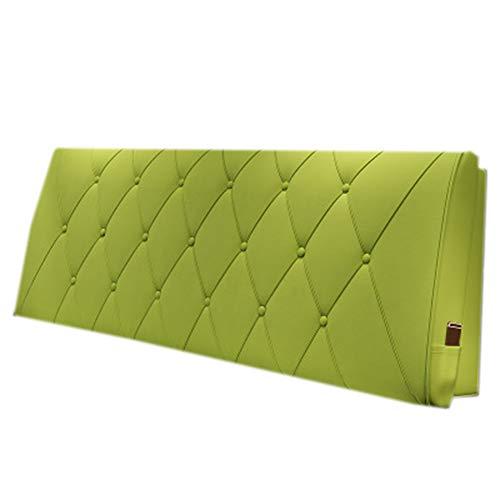 Cojín de lectura grande y suave Cojín de cabecera Almohada Cojines Cuña Estuche blando Desmontable y lavable No deforme, 4 colores, 5 tallas,Verde,A120*60 * 10cm