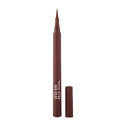 3INA MAKEUP - Vegan - Cruelty Free - The Color Pen Eyeliner 575 - Eyeliner Marrone Matte - Penna Colorato - Lunga Durata - Colore Intenso - Applicatore di Precisione - Liquido Ink Liner