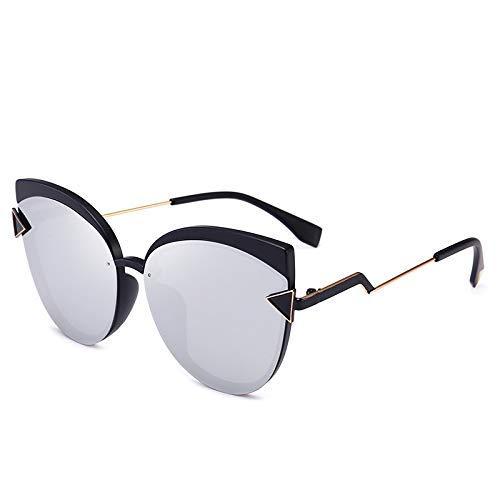 LAMZH Sunglass - Gafas de sol polarizadoras de moda, accesorios para el conductor del coche (color: plata)