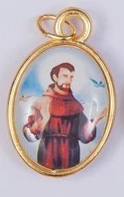 San Francisco medalla. Papa Francisco. San Francisco de Asís medalla. St Francis