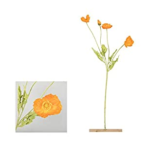 Tlwangl Artificial Flowers 4 Heads Poppies Artificial Flower Simulation Silk Fake Flower Home Party Wedding Decoration Photography Decorative Fake Flowers (Color : Brown)