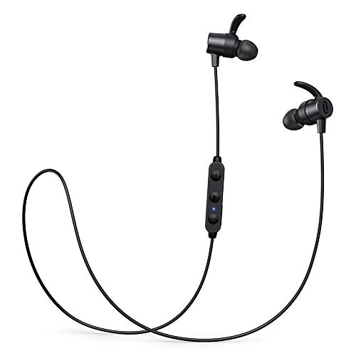 Bluetooth Kopfhörer in Ear,TaoTronics SoundElite 72 aptX HD Audio Bluetooth 5.0 Sportkopfhörer CVC8.0 Noise Cancelling IPX7 Wasserdicht 14 Stunden Wiedergabezeit 3 EQ Einstellungen Magnetisch Clip