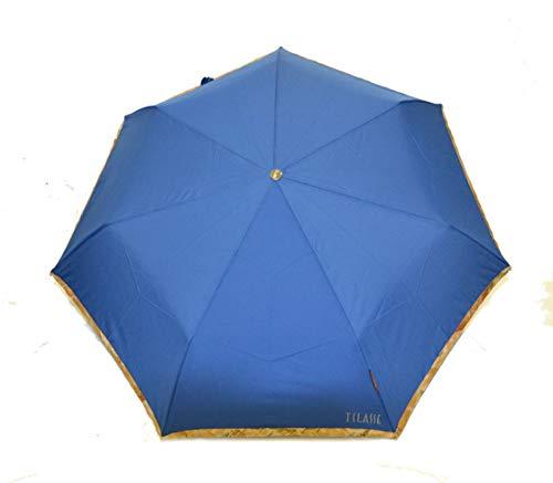 ALVIERO MARTINI Ombrello glitter prima classe bordo geo blu