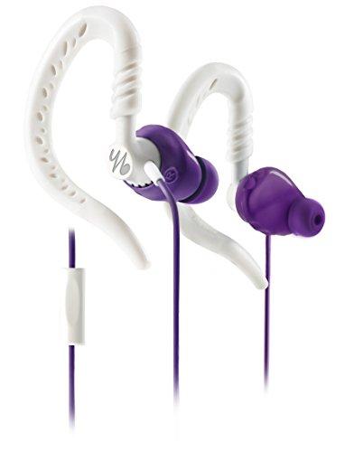 Yurbuds by JBL Focus 300 Frauen-Sport In-Ear Kopfhörer mit Ohrbügel, 1-Knopf FB lila/weiß