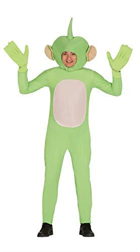 Fiestas Guirca Kostüm außerirdischer grün Mann Frau grÖsse l