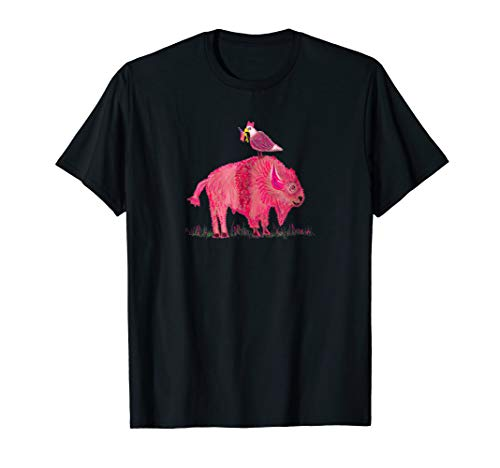 Pink Pussy Cat Hat Bald Eagle and Buffalo T Shirt