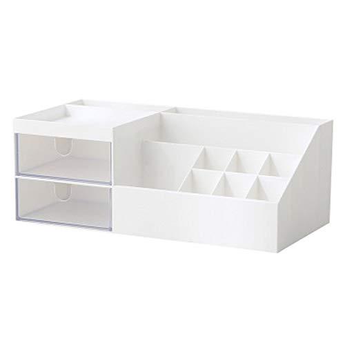 DEDC Beauty Make-up Aufbewahrung Boxen für Kosmetika Organizer Multifunktions Organisator auf dem Tisch (Weiß)