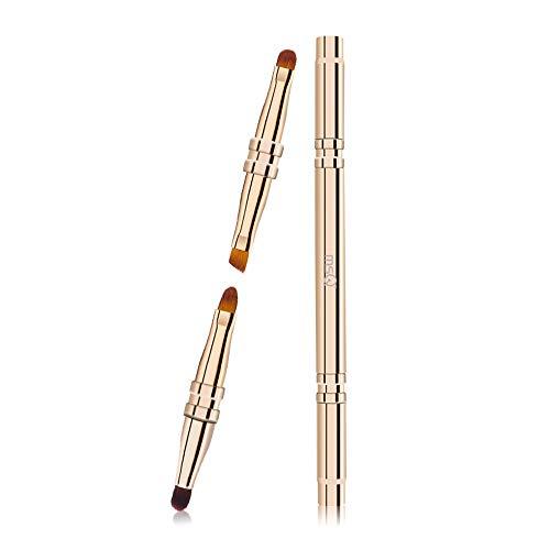 NCTM 4-tête Drush Multifonction Profession Pinceau de Maquillage Pinceau à lèvres télescopique d'or délicat Pinceau Naturel Débutant