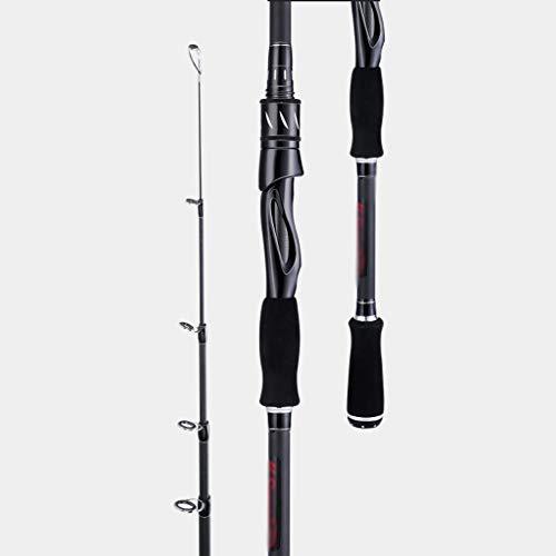 UOEIDOSB Nueva caña de Pescar telescópica 1,8 M 2,1 M Fibra de Carbono Ultraligera giratoria/caña de fundición caña de Viaje 5-10LB Pesca (Size : Spinning 210cm)