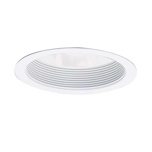 EATON Lighting 406WWB 6-Inch Baffle Trim with Reflector, White Baffle with White Reflector