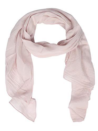 Zwillingsherz Seiden-Tuch für Damen Mädchen Uni Elegantes Accessoire/Baumwolle/Seiden-Schal/Halstuch/Schulter-Tuch oder Umschlagstuch einsetzbar - rosa