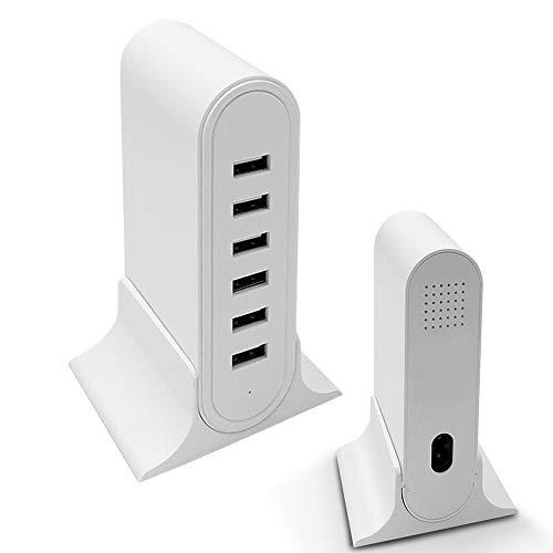 6ポートUSB充電器 USBコンセント USB acアダプター 自動判別大容量6台同時充電 USBポートコンセント PSE認証済みiPhone/ipad/Android 各種対応 USB急速充電器