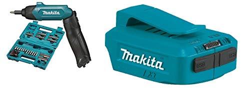 Makita DF001DW-Atornillador + Makita DEAADP05 - Adaptador USB