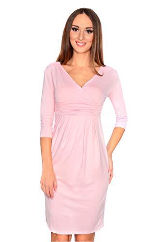 OxydFashion Damen Wickelkleid Abendkleid Etuikleid Figurbetontes Midi Kleid mit V-Ausschnitt, 8558...