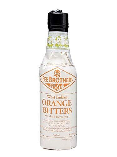 Fee Brothers Orange Bitters 150 ml für Cocktails & Longdrinks für besondere Würze und Raffinesse Geruch von frischen Orangen würziges Aroma nach Orangen Geschmack von viel herber Frucht