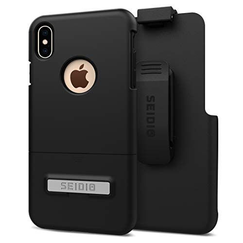 Seidio Surface Combo with Kickstand for Apple iPhone Xs Max (Black/Black)