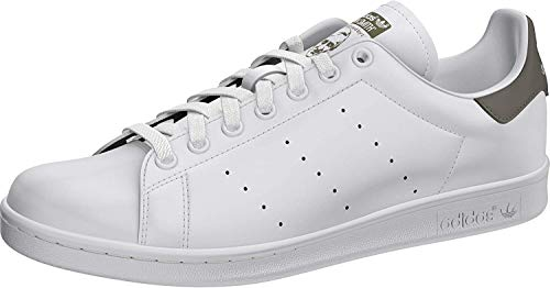 adidas Mens Stan Smith Sneaker, Footwear White/Footwear White/Legacy Green, 45 1/3 EU