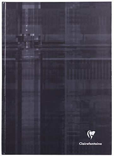 Clairefontaine Hard Bound Notebook, A4, Lined & Margin - Dark Grey