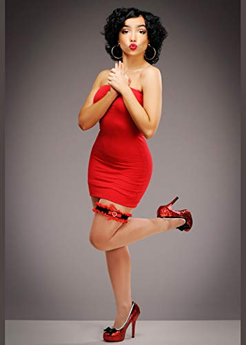 Magic Box Disfraz de Betty Boop Estilo Rojo para Mujer S/M (UK 10-12)