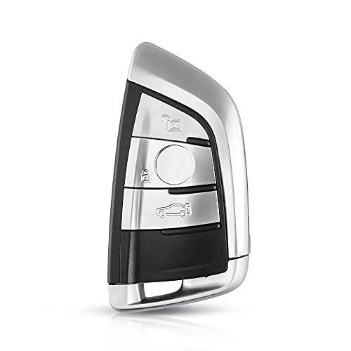 Carcasa para Llave de Coche Caja de shell de la llave del coche del coche de reemplazo de la tarjeta inteligente compatible con BMW 1 2 7 Serie X1 X5 X6 X5M X6M F Clave de clase Insertar hoja FOB Dura