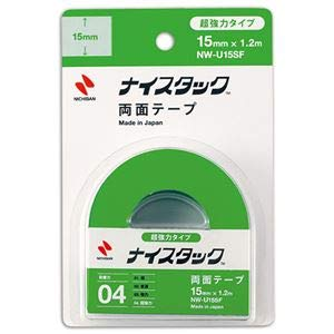 (まとめ) ニチバン ナイスタック 両面テープ超強力タイプ 小巻 15mm×1.2m NW-U15SF 1巻 【×10セット】 〈簡易梱包
