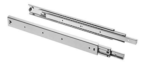 GTV H53 Schubladenschienen Vollauszüge Schubladenauszüge - 53.9 x 800 mm - 2 mm Starken Verzinkt Stahl - Rollenauszug Teleskopschiene Kugelführung - Schienensystem Belastbar bis 100 Kg 1 Set= 2 Stück
