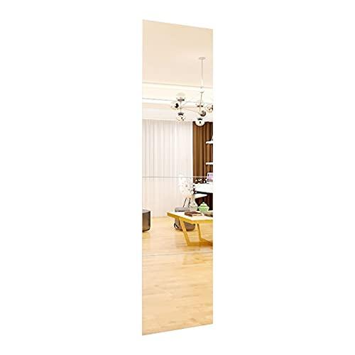 Espejo baño Espejos Pared Mirror Espejo De Pared, Amplio De Dormitorio Rectangular Espejo De Vanidad Sin Marco - Espejo De Longitud Completa - Espejo De Afeitado Decoración De Baño, 4 Em(Size:40cm*4)