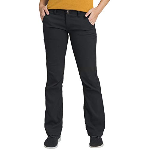 prAna Women's Halle Regular Inseam Pant, Black, 12