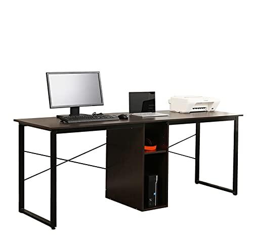Soges 2-Person Home Office Desk,78 inches Large Double Workstation Desk, Storage Desk...