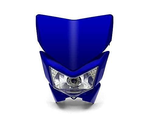 Moto Phare Masque - Streetfighter & Supermoto - Bleu - 12V 35W