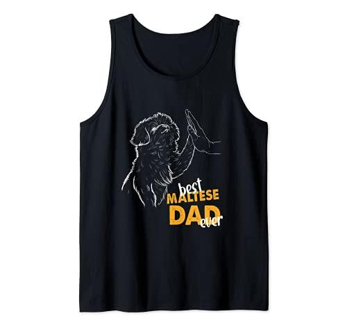 Hombre Best Maltese Dad Ever Papá Maltés Camiseta sin Mangas