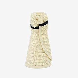 HUIJUNWENTI Spring Summer Visors Cap Foldable Wide Large Brim Sun Hat Beach Hats for Women Straw Hat Chapeau (Color : Ivory, Size : 48 54cm)