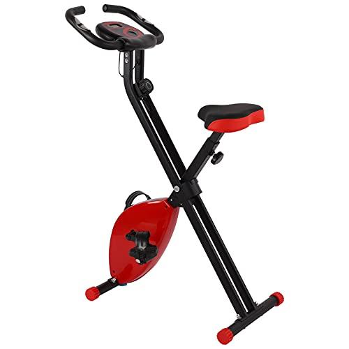 Bicicleta de ejercicio, bicicleta de ejercicio plegable, nivel ajustable, magnético, bicicletas de entrenamiento de fitness con pantalla LCD para el hogar/gimnasio, entrenamiento cardiovascular, fitne
