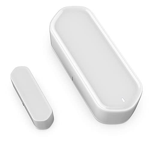 BAHER Detector de Sensor de Puerta Inteligente WiFi Alarma de Sensor de Puerta/Ventana Tuya WiFi Alarma de Aplicación en Tiempo Real Detector Antirrobo de Seguridad para El Hogar No