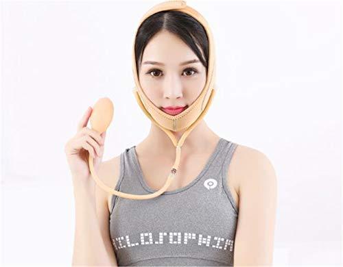 Cinturón de estiramiento facial antienvejecimiento, Vendaje de estiramiento facial antiarrugas, Cinta adelgazamiento facial de mentón en V transpirable, Reductor de mentón doble para contorno facial,2
