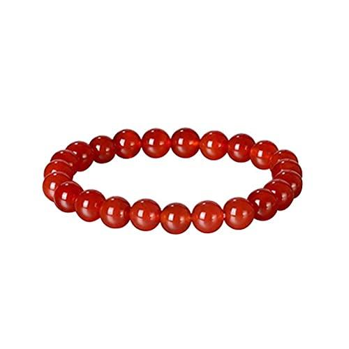 Yusat Pulsera de ágata roja, pulsera de piedra natural, pulsera tobillera de venas varicosas, pulsera de joyería regalo para hombres y mujeres, pulseras de amistad infinitas