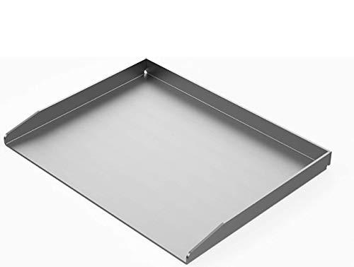 Generisch RuSchi- BBQ universal Grillplatte aus Edelstahl BBQ Grillaufsatz Plancha 45x35cm