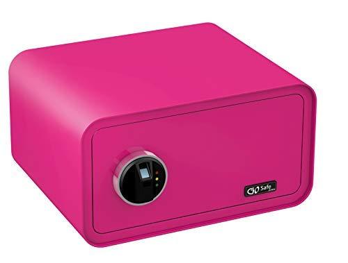 OLYMPIA Go Safe Tresor Design Safe Möbeltresor Wandsafe Wandtresor Fingerprint, Farbe:Pink