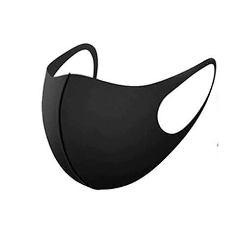 10/5/3 Masken Kinder Mund und Nasenschutz Stoff Kindermasken waschbar in schwarz 112 (Einheitsgröße, 5X Schwarz)