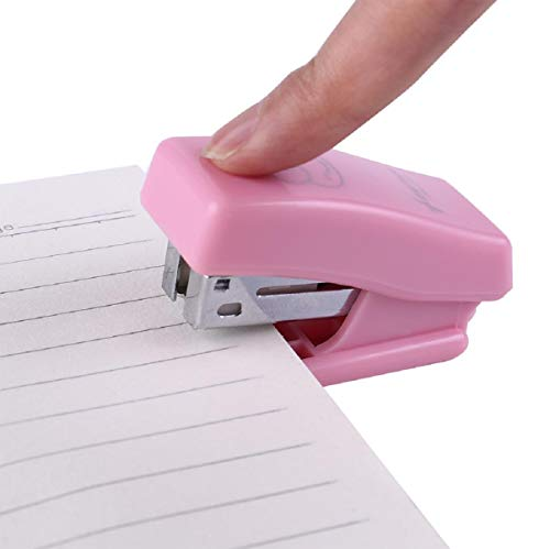 Boddenly Mini Cute Mini Desktop Stapler with 1 Box Staple for Office School Home Travel and Best Cute Gift for Friends and Children, Mini Office Stapler, Mini Desktop Stapler, Small Office Stapler (A)