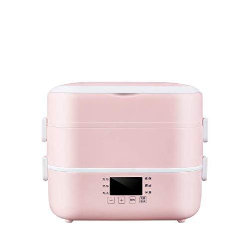 BANNAB 3-lagige Mini-Reiskiste Tragbarer Reiskocher Kochen und Kochen von Speisen Erhitzen Reiskiste Abnehmbarer Keramikbehälter Home Office