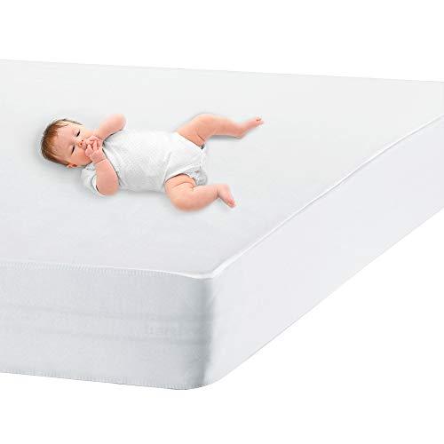 Bedecor Tencel Protezioni Materasso Impermeabile,Coprimaterasso per Bambino -per Lettino o Culla 70x140 cm