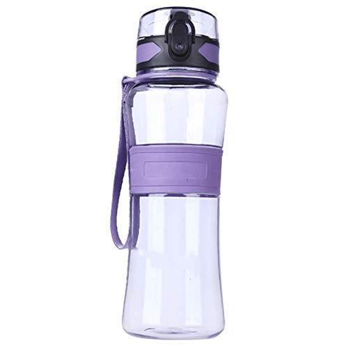 GAGP Botellas para Beber Copa De Viaje De Bicicleta De Boquilla De Sello De Botella De Agua Deportiva A Prueba De Fugas De Alta CapacidadGimnasio Camping Deportivo (Size:1000 ML; Color:Purple)