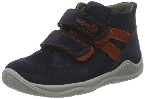 Superfit, Baby - Jungen, Lauflernschuh, Sneaker, BLAU/GRAU 8000, 23 EU