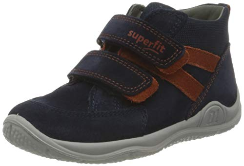 Superfit, Baby - Jungen, Lauflernschuh, Sneaker, BLAU/GRAU 8000, 25 EU