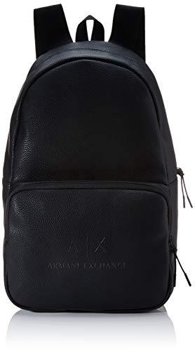 Armani Exchange Herren The Backpack Rucksack Schwarz (Black/Gun Metal)