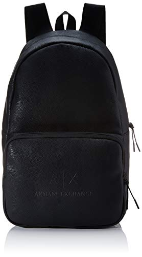 Armani Exchange heren The Backpack rugzak, zwart (Black/Gun Metal), 46x18x27 cm