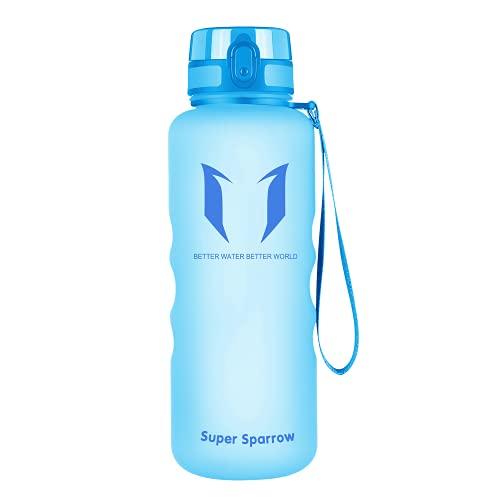 Super Sparrow Bouteille d'eau - Gourde - 350ml/500ml/750ml/1000ml - sans BPA - Convient pour Le Sport, la randonnée, l'école, Le Bureau, en Plein air