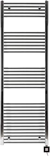 anapont Badheizkörper, elektrisch, Elektro 1775h x 600b Chrom/gerade, Elektrobadheizkörper, hochwertig, Handtuchhalter, Handtuchheizkörper